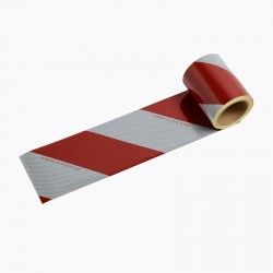 BACS4 - Striped Ribbons 2 Rolls Class B White/Red