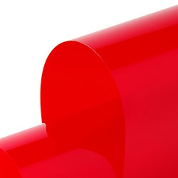 Transparent 1230mm x 30m Permanent Red